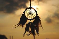 Traumfänger fangen schlechte Energien und Träume